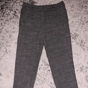 H&M CHECKERED CIGARETTE CUT TROUSERS
